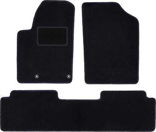 Wielganizator Carlux - Juego de alfombrillas de terciopelo para Citroen Xsara Picasso Minivan 1997-2010, 4 piezas, color negro