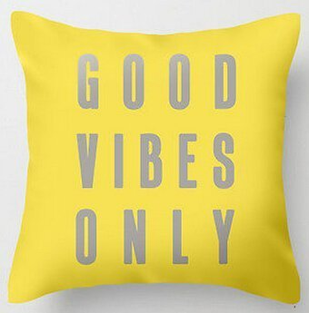 Gary S.Shop Good Vibes Only Home Decor Pillow Case 18 x 18 Inch
