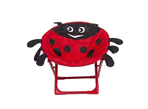 Elnsivo Saucer Chair for Kids Folding Moon Camp Chair for Children Toddler Indoor Outdoor Use, Red...