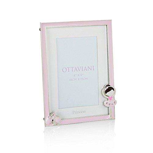 Preisvergleich Produktbild OTTAVIANI Fotorahmen BALLERINA Metall mit Kristallen und Emaillen 70538