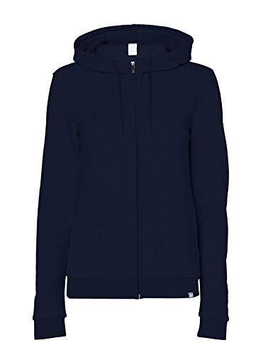 CARE OF by PUMA Sudadera con capucha, tejido de rizo y cremallera para mujer, Blue (Navy), 38, Label: S