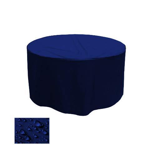 Housse de table de jardin Gartenstuhl-Kissen Housse de protection premium rond Ø 100 cm x H 25 cm Bleu Foncé