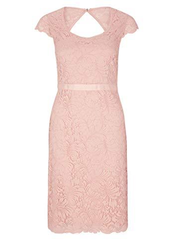 s.Oliver BLACK LABEL Damen Kleid aus Spitze mit Rückenausschnitt dusty rose 44