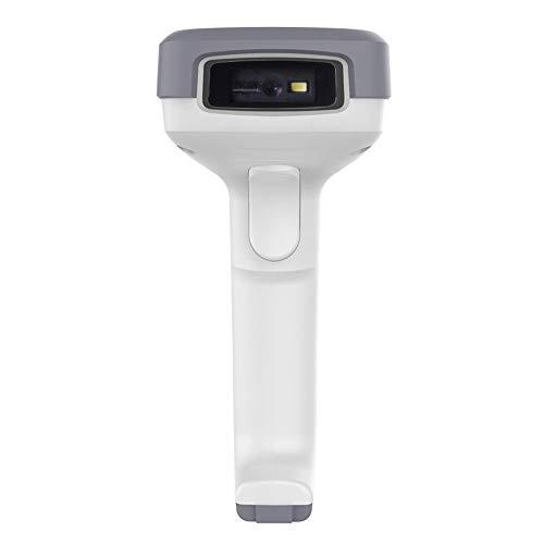 Vaxiuja Scanner de Codes à Barres Scanner sans Fil à Une Dimension de Code à Deux Dimensions Code Haute sensibilité et Une Forte capacité Décodage (Couleur : Blanc, Taille : 163x71x95mm)