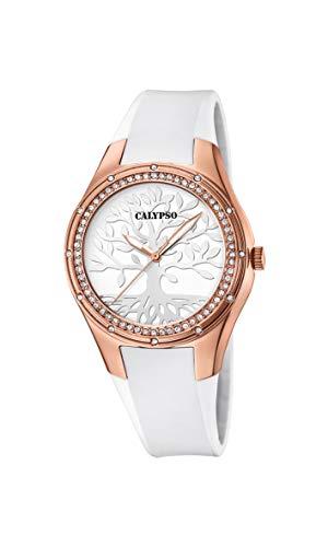 CALYPSO Reloj Analógico para Mujer de Cuarzo con Correa en Silicona K5721/B