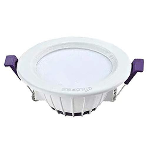 HLD 10 packs- Downlight Led Embedded Household Ultradunne Plafond Downlight LED5w plafondlamp Hole licht gat Drie-kleuren Opbouw Verzonken verlichting (Color : A-5w, Size : White light)