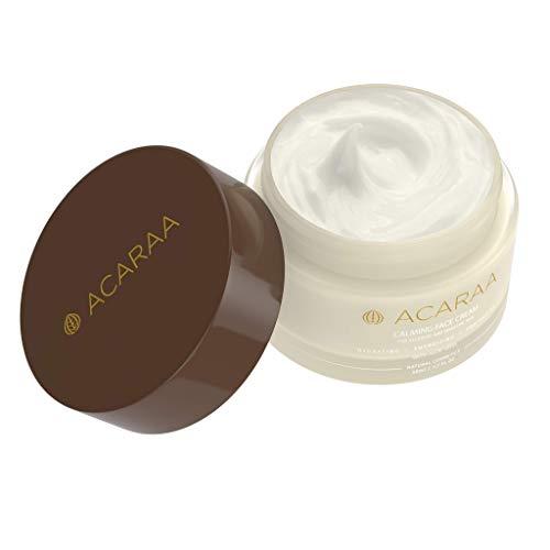 ACARAA Calming Face Cream 50ml Parfümfrei Mit Aloe Vera Gel & Vitamin E, Neurodermitis Creme Für Allergische Haut, Vegane Tages- und Nachtcreme, Anti Aging Feuchtigkeitscreme, Naturkosmetik