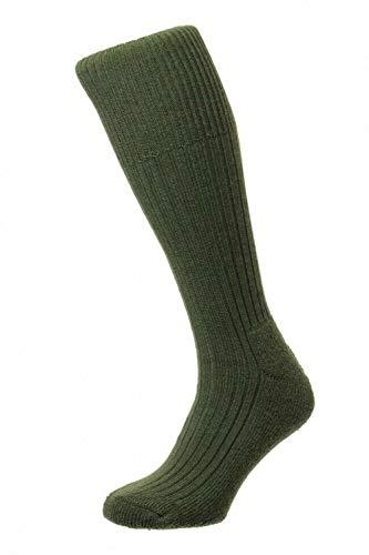 HJ Hall Herren Commando Socken, olivgrün, 11-13