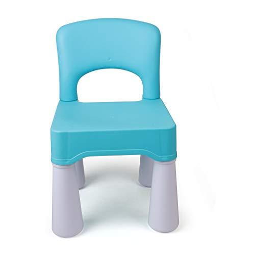 "Plastic Kids Chair, Durable and Lightweight, 9.65"" Height Seat, Indoor or Outdoor Use for Boys Girls Aged 2+ (Blue)"