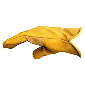 G & F 6203XL-3 Premium Genuine Grain Cowhide Leathers with Reinforced Patch Palm Work Gloves, Drivers Glove, 3-Pair, XLarge