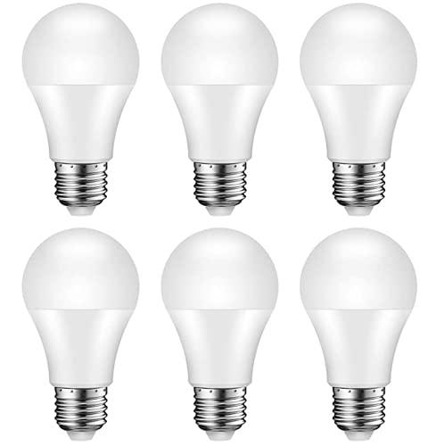 Lampadina LED E27, 12W Equivalente 100W, A60 950 lumen, 3000K - Luce Bianca Calda, Non Dimmerabile, Pacco da 6 [Classe di efficienza energetica A+]