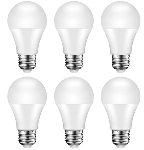 Lampadina LED E27, Equivalente 100W, A60 1050 lumen, 3000K - Luce Bianca Calda, Pacco da 6 [Classe di efficienza energetica A+]