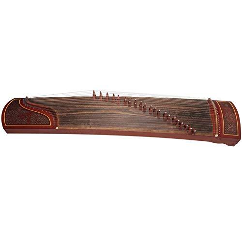 JXXZYH Reine handgemachte rote Sandelholzfensterblume Silberne Seide Zhaojun aus dem Muster heraus, das professionelles Guzheng spielt