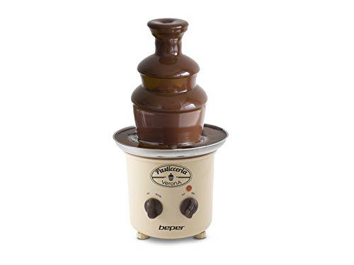 BEPER 90.531 Fontaine à Chocolat, 320 W, Crème