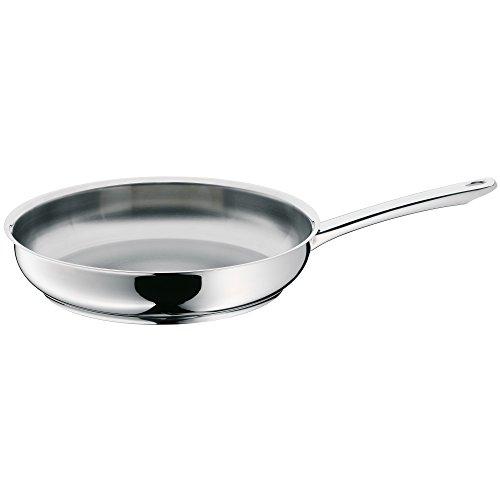 WMF Profi - Sartén 28 cm, de acero Inoxidable, sin recubrimiento para todo ipo de cocinas Incluido inducción