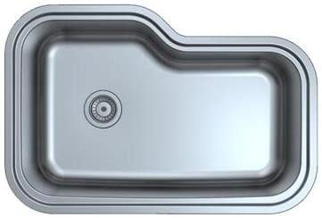 33 undermount stainless steel kitchen sink 33 X 22 X 9 single bowl 70 30 18 Gauge product image