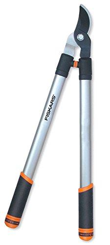 FISKARS 1000578 Teleskop-Bypass-Astschere PowerGear, Länge: 700 mm