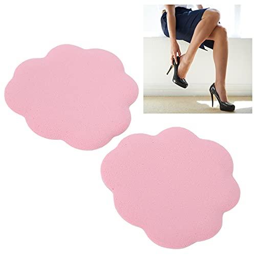 Coussins à talons hauts, autocollants doux pour soulager la fatigue Coussinets de pied en gel souple réutilisables avec du coton de haute qualité pour talons hauts pour femme pour femme(pink)