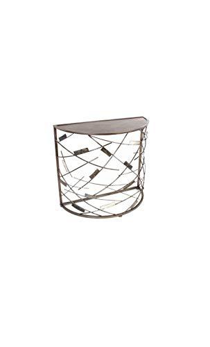 Socadis - Console Demi Lune géométrique Art DE Fer