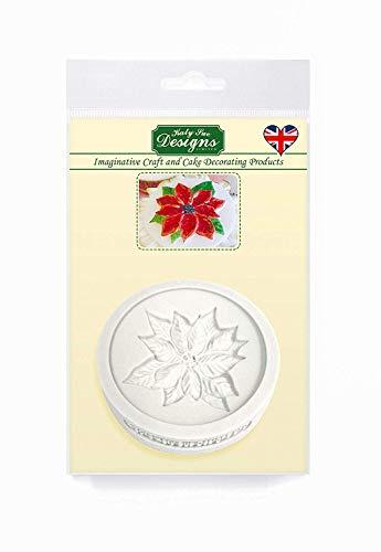 Poinsettia siliconen mal voor taartdecoratie, ambachten, cupcakes, suikerwerk, snoepjes, chocolade, kaarten maken en klei, voedselveilig goedgekeurd, gemaakt in het Verenigd Koninkrijk