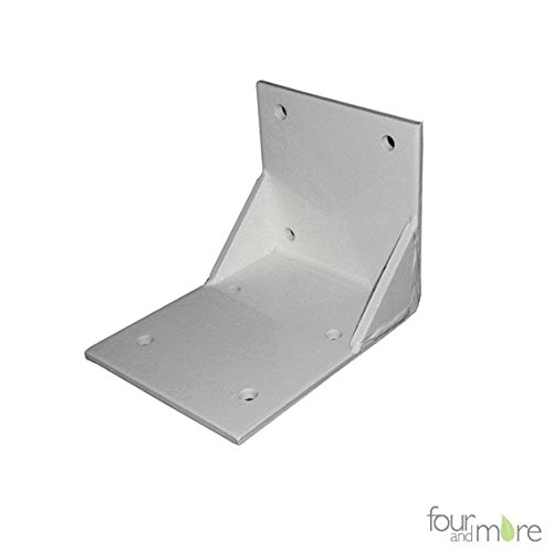 Four and More GmbH Plafondhouder voor zonnescherm met gesloten cassette, zonnescherm met scharnierarm, voor montage op balkons en dakranden