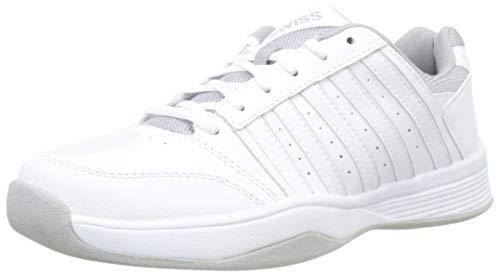 K-Swiss Performance Damen Court Smash Carpet M Tennisschuhe, Weiß (Wht/Wht/High-Rise, 7.5 000070594), 41.5 EU