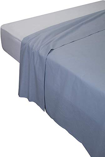 Pikolin Home - Sábana encimera, 100% algodón, 170 x 270 cm, cama 80/90/105, color salmón (Todas las medidas)
