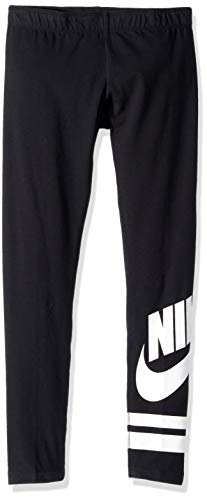 Nike Sportswear Leggings Ragazza, Nero (Black/White), S