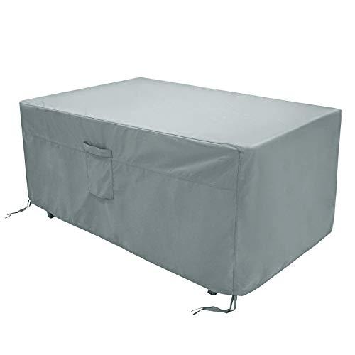 FUCNEN Copertura impermeabile per mobili da giardino per esterni resistente copertura per mobili da giardino copertura per mobili per picnic panchina tavolo sedie divano in rattan 180x120x74CM Grigio