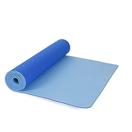 ZXZW Estera De Ejercicios De Estera De Yoga Antideslizante con Textura Antideslizante Adecuada para Fitness, Yoga, Pilates (72 * 24 Pulgadas, 6 Mm)