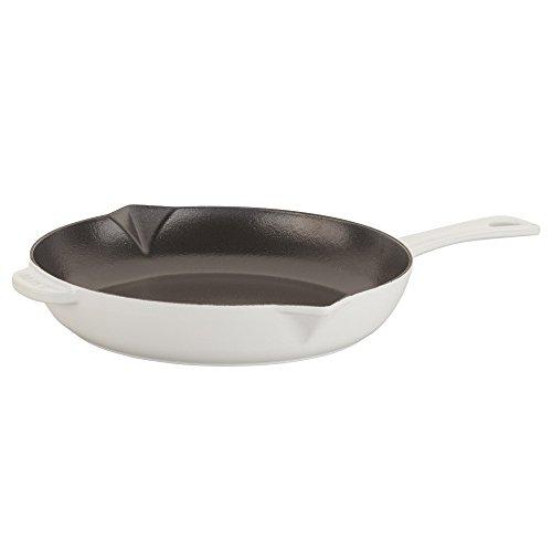 STAUB Cast Iron Enameled Frying Pan, 10-inch, White