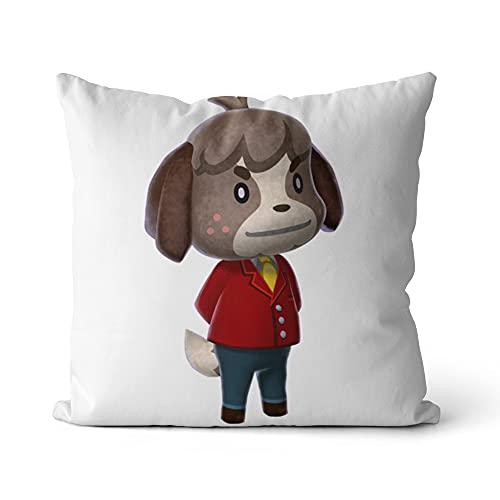 Funda de cojín Animal Crossing Throw Pillow Fundas Cuadrado Impresión Fundas de Almohada Sofá Cama y Silla Decoración del hogar 16x16 Pulgadas / 40x40cm