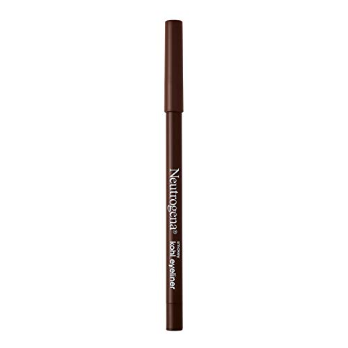 Neutrogena Smokey Kohl Eyeliner with Antioxidant Vitamin E, Water-Resistant & Smooth-Gliding Eyeliner Makeup, Dark Brown, 0.014 oz
