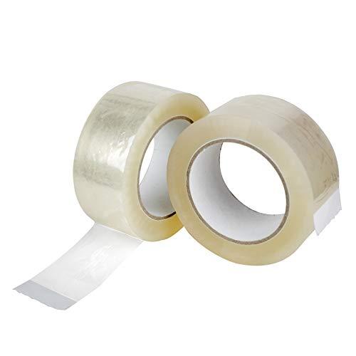 Palucart 36 rotoli nastro adesivo 50x132 srotolamento silenzioso per imballaggio colore TRASPARENTE