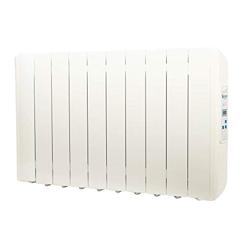 farho Radiador Eléctrico Eco-X 1250W Bajo Consumo · Emisor Térmico con Termostato Digital Programable 24/7 · para estancias de hasta 16 m² · 10 AÑOS DE GARANTÍA