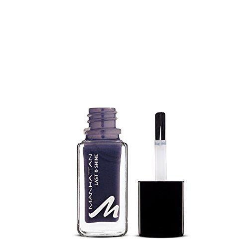 Manhattan Last & Shine Nagellack – Violetter, glänzender Nail Polish für 10 Tage perfekten Halt...