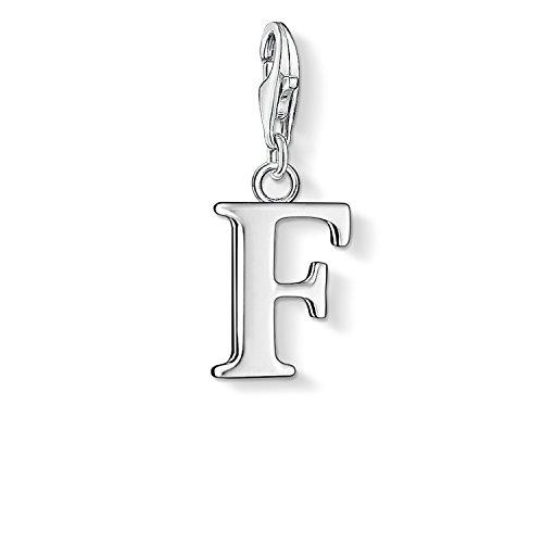 Thomas Sabo Damen-Charm-Anhänger F Buchstabe Charm Club 925 Sterling Silber 0180-001-12