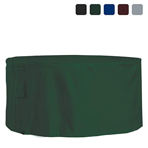 Covers & All Outdoor Patio Round Table & Chair Set Cover 18 Oz Waterproof - 100% UV & Weather Resistant PVC Coated Round Table Cover with Air Pockets & Drawstring for Snug Fit (60, Green)