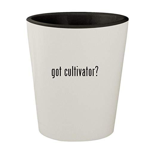 got cultivator? - White Outer & Black Inner Ceramic 1.5oz Shot Glass