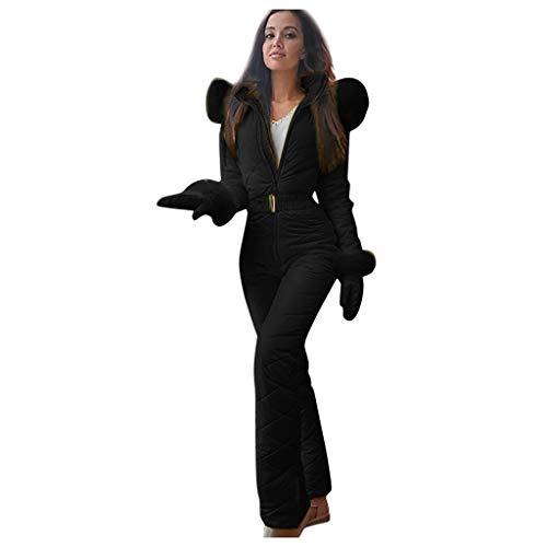 MUMEOMU Combinaison de Ski Femme, Femme Hiver Chaud Combinaison Neige Extérieur Sports Pantalon Ski Suit Imperméable Combinaison pour Ski, Sports, Extérieur des Sports Combinaison Neige