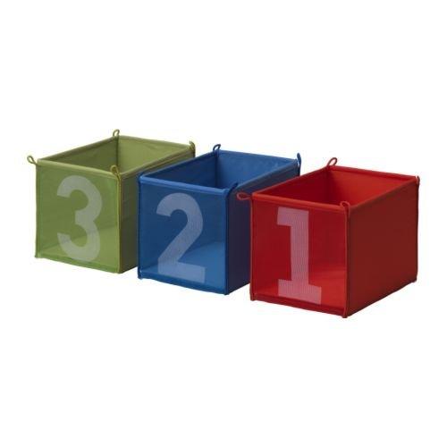 IKEA(イケア) KUSINER 80169293 ボックス, ブルー/グリーン, レッド