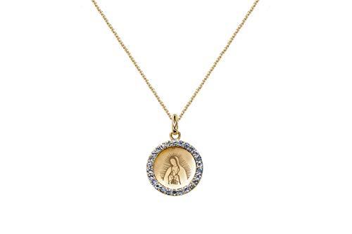 Albert Hern – Medalla de Oro de 18 Quilates con Cadena de Oro de Virgen de Guadalupe | Ideal como…