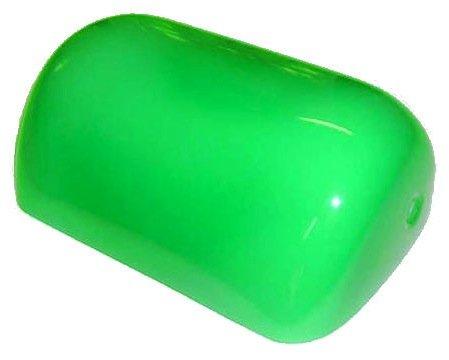 Verre de Rechange pour lampe ministériel petite laiton tuile Vert 15 cm x 10 cm