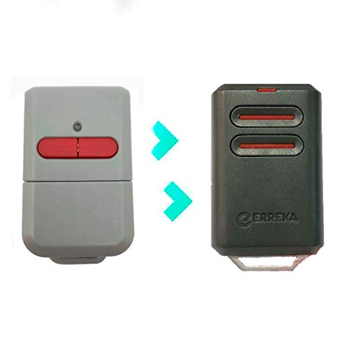 Mando De Garaje Erreka KUMA De 2 Botones Canales Código Fijo 433 MHz Compatible Con Erreka Luna Y Reson Nuevo Modelo Más Resistente