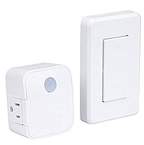 WESTEK Indoor Wireless Light Switch – No Wiring Required, Up To 100ft Distance – The Easy Way to Add a Switched Outlet, Ideal for Lamps, Seasonal Lighting, Small Appliances – White