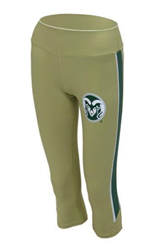 Colorado State Rams NCAA Twin Vision Sportbekleidung Damen Yoga Capri Hose Leggings, damen, gold