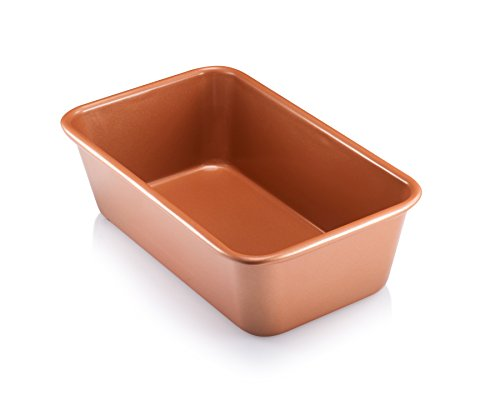 Gotham Steel 1362 Pro Nonstick Loaf Baking Pan, Brownish