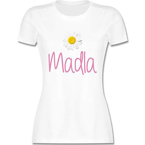 Bayern Frauen - Madla Margerite - XXL - Weiß - l191_Shirt_Damen - L191 - tailliertes Damen Frauen T-Shirt