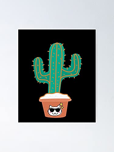 Cacti Cats Poster - for Quote Print, Affordable Wall Art Printable, Gallery Wall, Family, Friends, Brother, Sister, Kids.