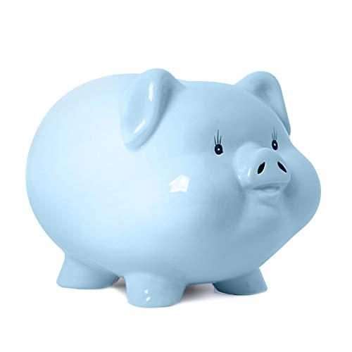 SISIZHANG Spardose Dekoration Keramik Sparschwein Wohnzimmer Schlafzimmer Dekoration Einfache Mode Schwein Spardose (Color : PINK, Size : 18CM*22CM*16CM)